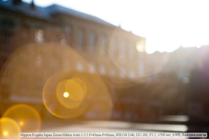 Один из тех самых страшных зайчиков на Nikon 43-86mm f/3.5 Zoom-Nikkor Auto