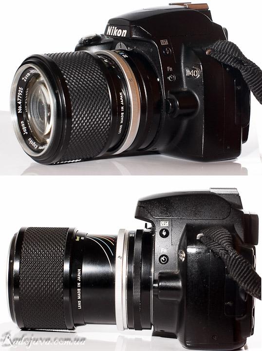 Вид Nippon Kogaku Japan Zoom-Nikkor Auto 1:3.5 f=43mm-f=86mm на Nikon D40