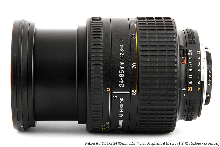 Максимальная длина хобота Nikon AF Nikkor 24-85mm 1:2.8-4 D IF Aspherical Macro (1:2)