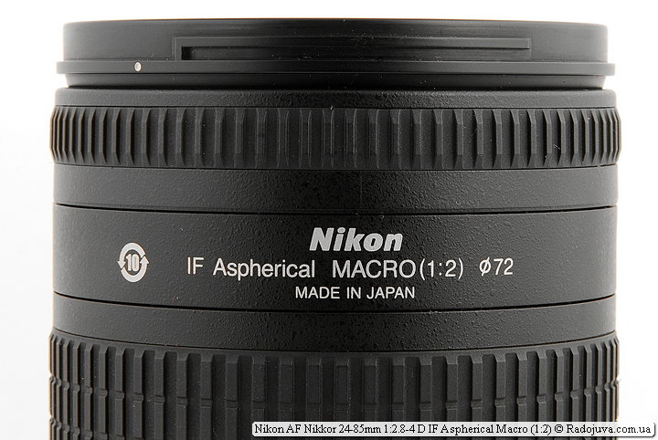 Метки Nikon AF Nikkor 24-85mm 1:2.8-4 D IF Aspherical Macro (1:2)
