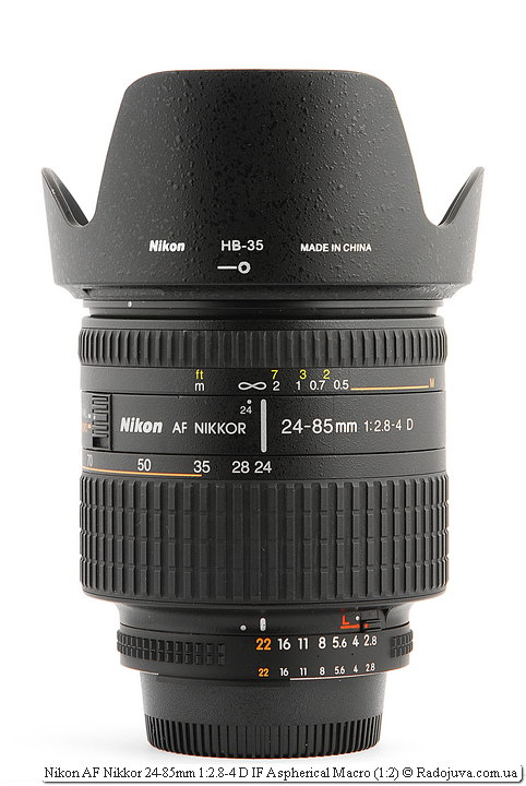Nikon AF Nikkor 24-85mm 1:2.8-4 D IF Aspherical Macro (1:2) с блендой