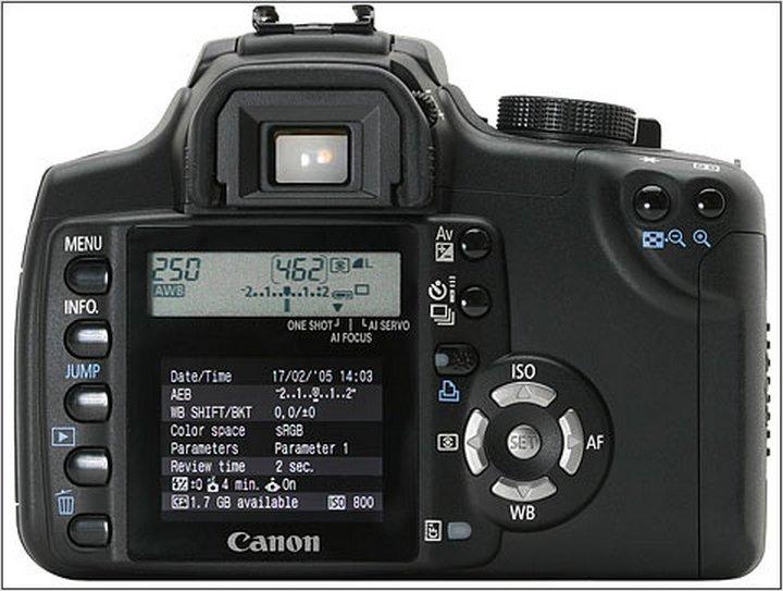 Canon 350D вид сзади