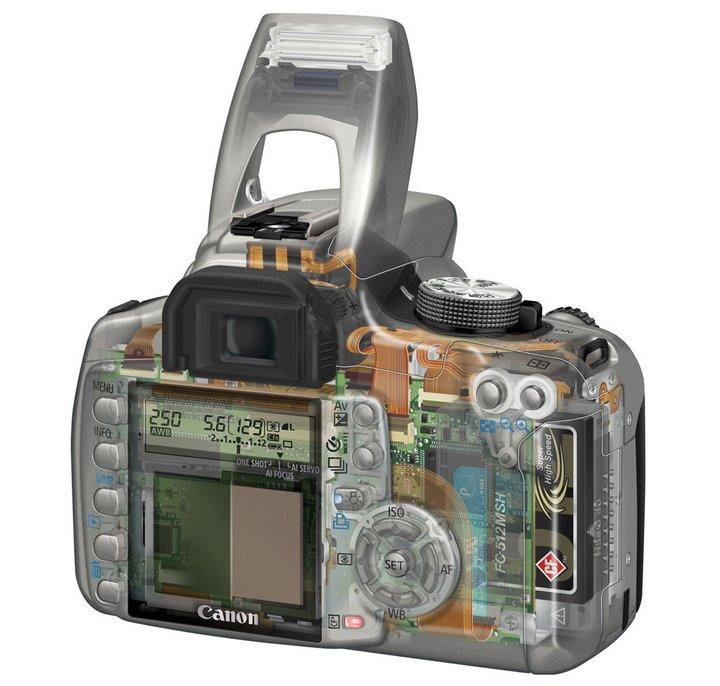 Внутренности камеры Canon 350D