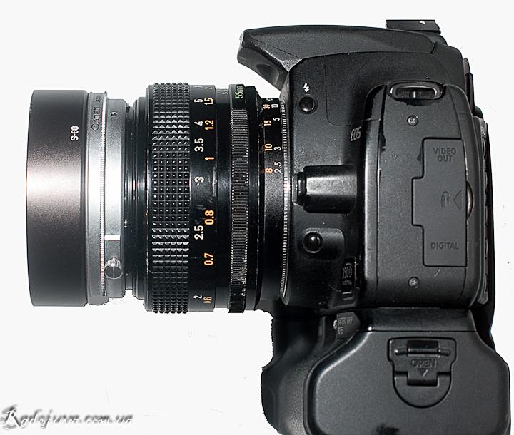 Canon Lens FD 55mm f/1.2 S.S.C. на современной ЦЗК