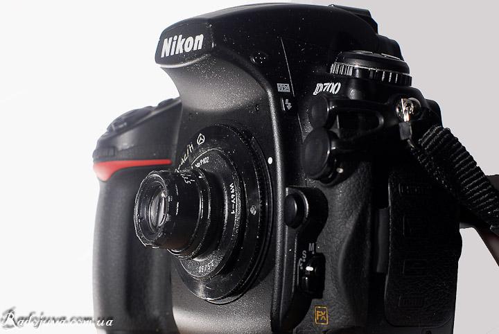 Индустар-69У-1 вид на современной камере