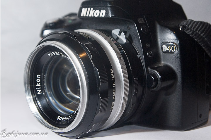 Nikon Nikkor-S Auto 1 review: 1.4 f = 50mm view on camera