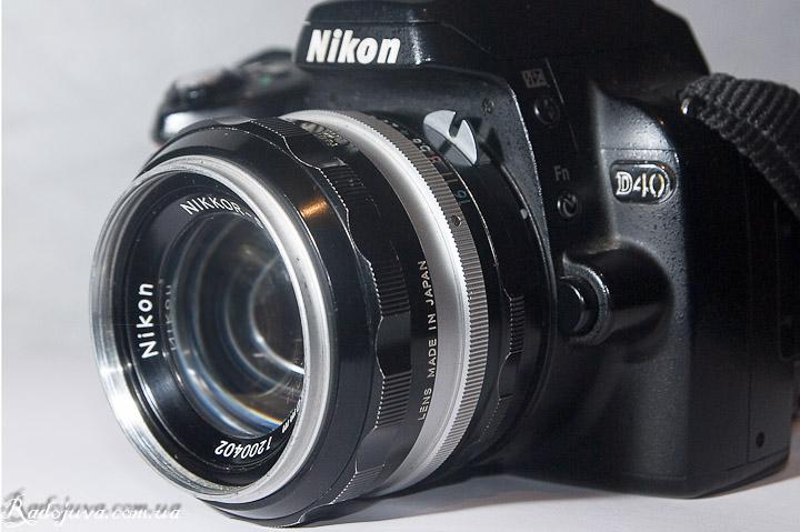 Обзор Nikon Nikkor-S Auto 1:1.4 f=50mm вид на камере