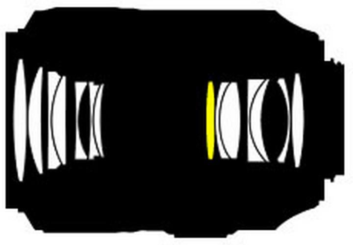 Оптическая схема объектива Nikon 105mm f/2.8G IF-ED AF-S VR Micro-Nikkor