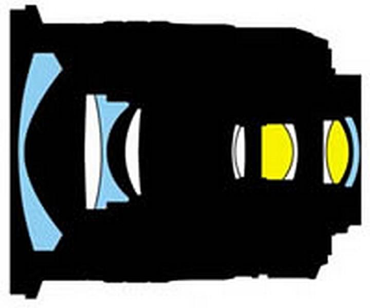 Optical design Nikon 12-24mm f / 4.0G IF-ED AF-S DX Zoom-Nikkor