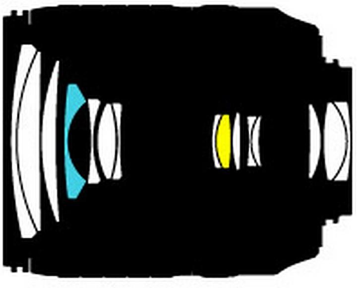 Оптическая схема Nikon 18-105mm f/3.5-5.6G ED VR AF-S DX Nikkor