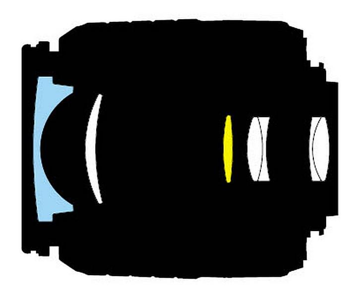 Оптическая схема Nikon 18-55mm f/3.5-5.6G ED AF-S DX Zoom-Nikkor