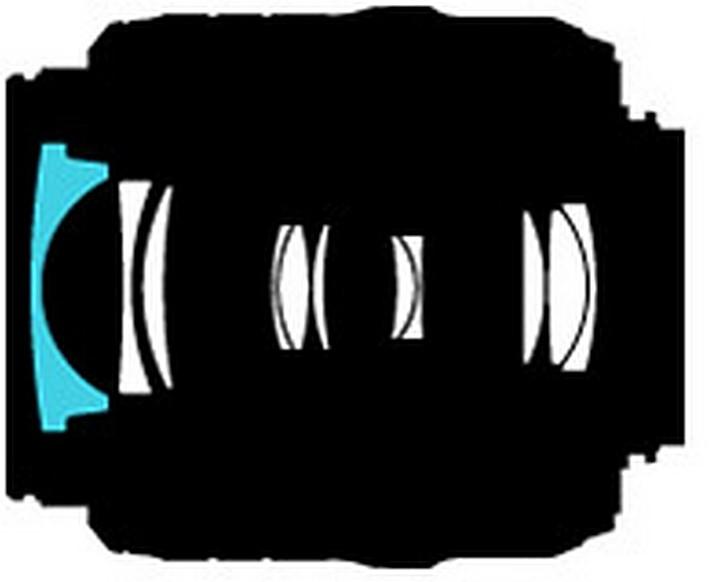 особенности- упрощенная до предела оптическая схема, 11 элементов в 8 группах с одной композитной асферической линзой...
