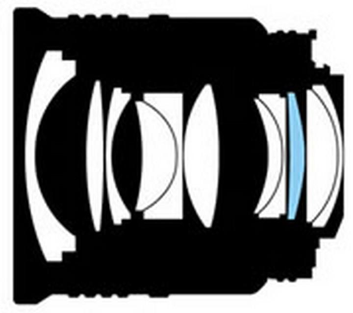 Оптическая схема Nikon 28mm f/1.4D AF Nikkor