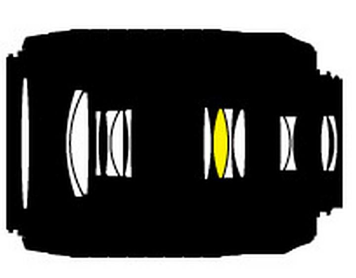 Оптическая схема Nikon 55-200mm f/4-5.6 AF-S VR DX Zoom-Nikkor