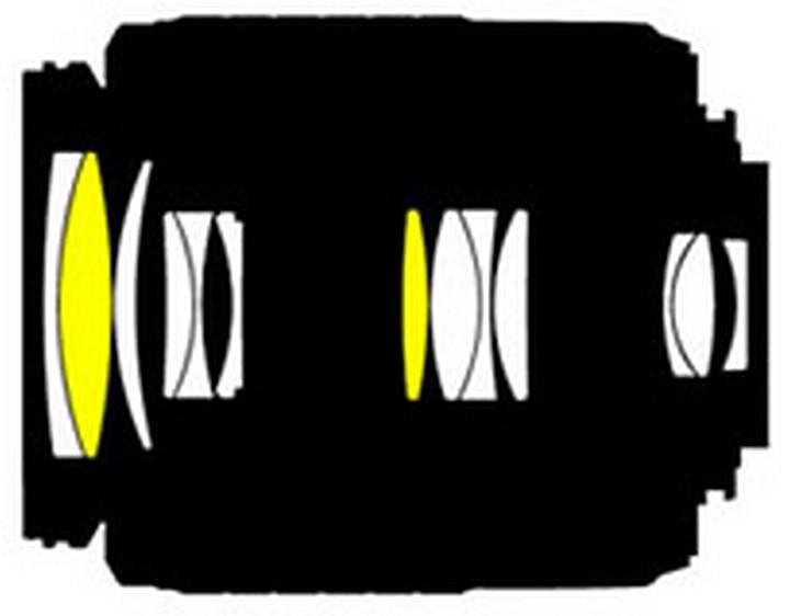 Оптическая схема Nikon 55-200mm f/4-5.6G ED AF-S DX Zoom-Nikkor