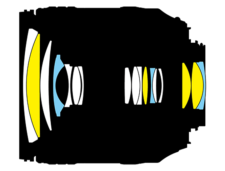 Оптическая схема Nikon N AF-S Nikkor 16-80mm 1:2.8-4E ED VR DX