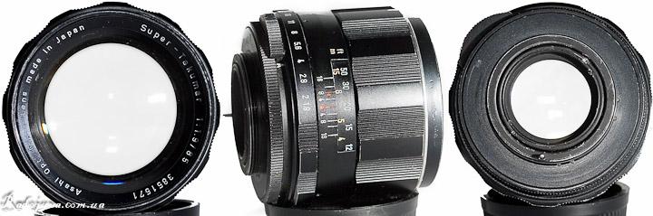 Вид Super-Takumar 85mm F1.9 с разных сторон
