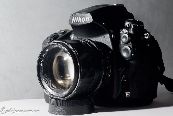 Вид Super-Takumar 85mm F1.9 на современной камере