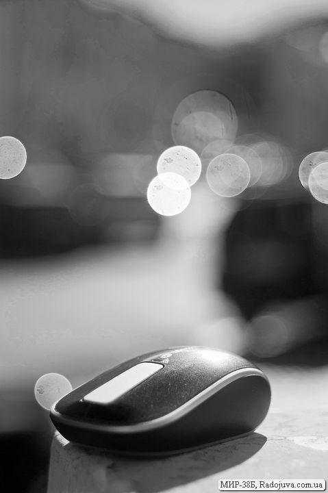 Мышка Microsoft Sculpt Touch Mouse Souris tactile и отражение солнца
