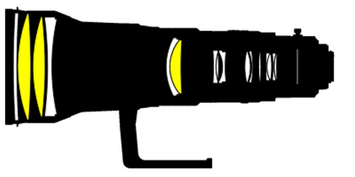 Оптическая схема Nikon 600mm f/4.0G ED VR Nikkor