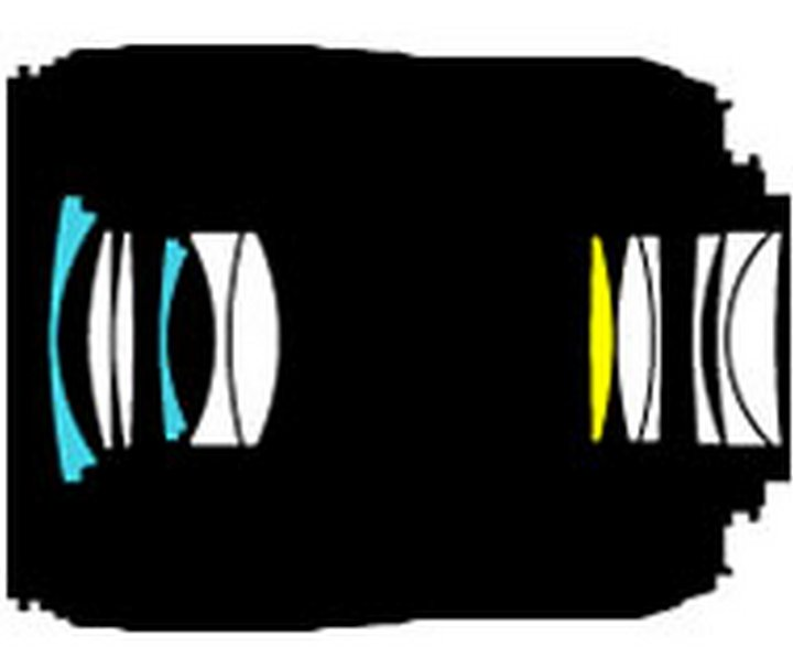 Оптическая схема Nikon 60mm f/2.8G AF-S ED Micro Nikkor