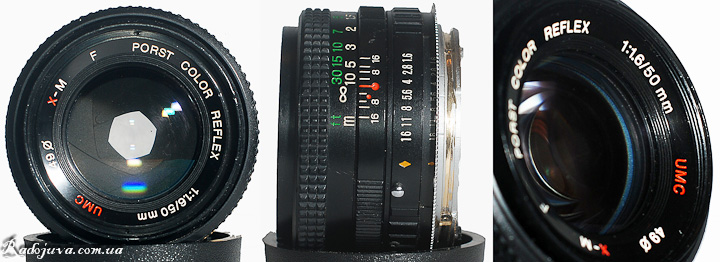 XM F Porst Color Reflex 1: 1.6 / 50mm UMC from different sides