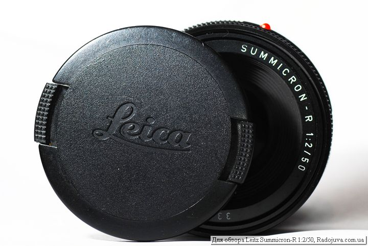 View Leica leitz summicron-r 1: 2/50 with cover