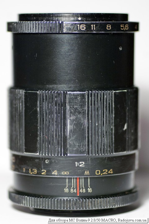 Вид объектива МС Волна 9 2.8 50 MACRO