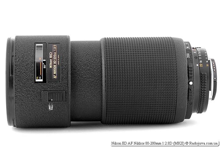 ид объектива Nikon ED AF Nikkor 80-200mm 1:2.8D (MKII) на современной камере