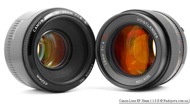Canon Lens EF 50mm 1:1.8 II и Voigtlander Nokton 58mm F1.4 SL N/AI-S