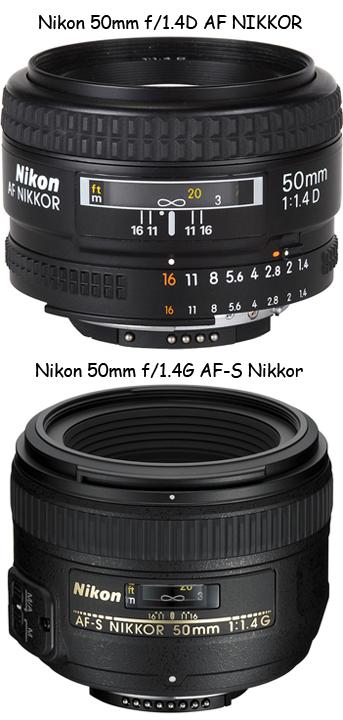 Nikon 50mm f/1.4G AF-S Nikkor и Nikon 50mm f/1.4D AF Nikkor