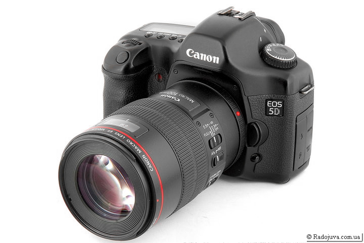 Canon EOS 5D с объективом Canon Macro Lens EF 100mm 1:2.8 L IS USM