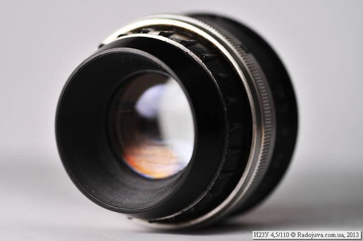 Просветление объектива Индустар-23У 4,5 110
