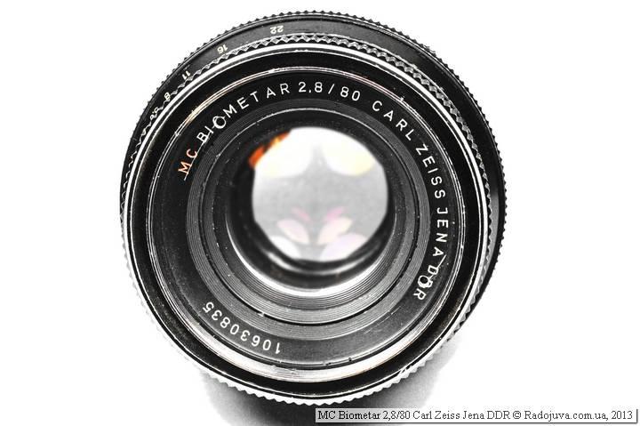 Lens view MC Biometar 2,8 / 80 Carl Zeiss Jena DDR