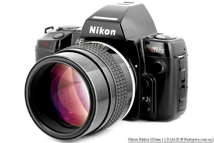 Nikon Nikkor 105mm 1:1.8 (AI-S) на ЗК