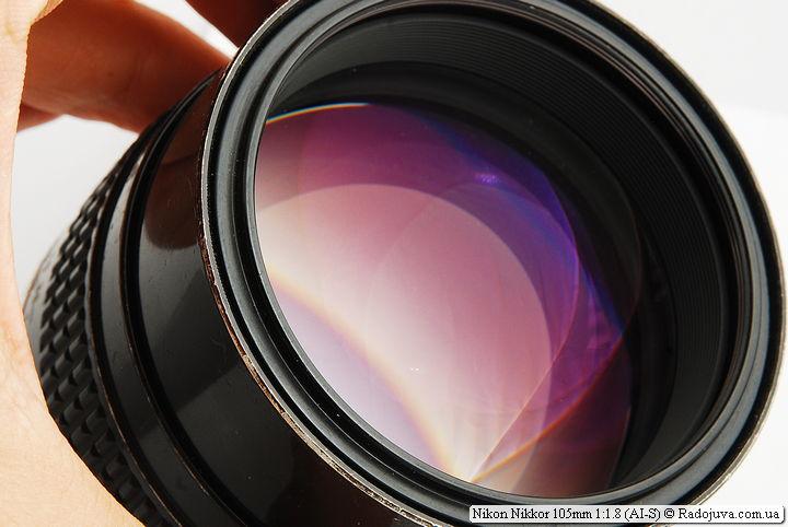 Просветление передней линзы Nikon Nikkor 105mm 1:1.8 (AI-S)