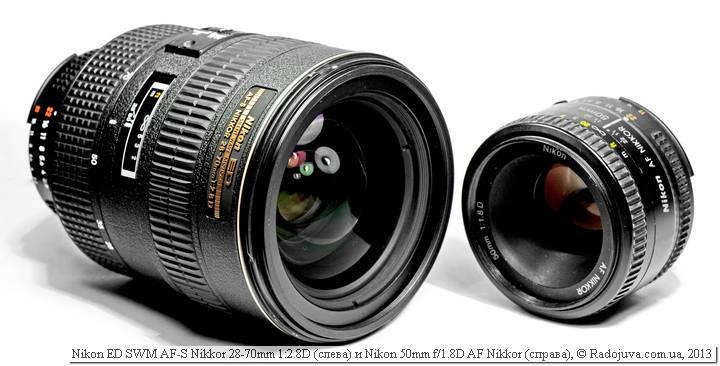 Внушительные размеры Nikon AF-S 28-70 mm f 2.8 D IF-ED