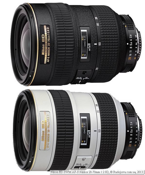 Две модели Nikon AF-S 28-70mm f 2.8D (IF-ED)