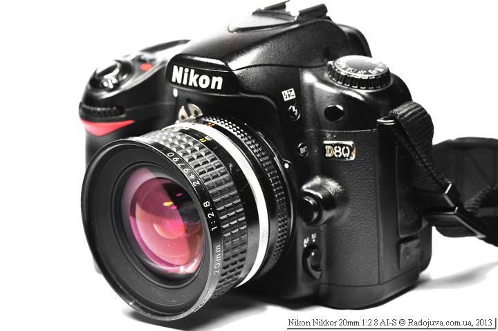 Вид на современной камере Nikon Nikkor 20mm 1:2.8 AI-S