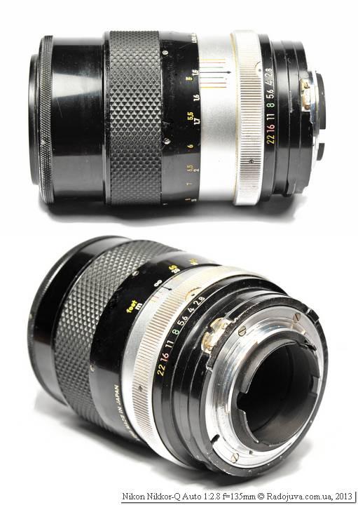 Вид объектива Nikon Nikkor-Q Auto 135 2.8 Non-Ai