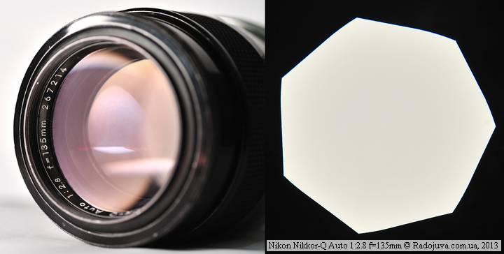 Nikon Nikkor-Q Auto 135 2.8 Non-Ai, просветление и лепестки диафрагмы