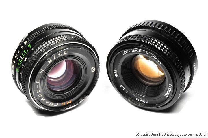 Размеры объектива Phoenix 50 1.9