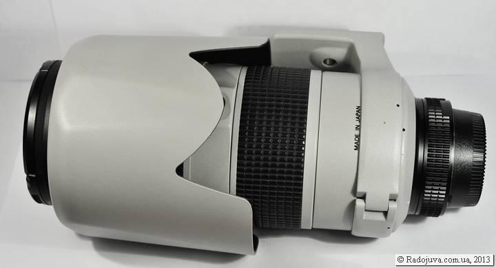Nikon 80-200 f2.8 AF-S с одетой задом наперед блендой