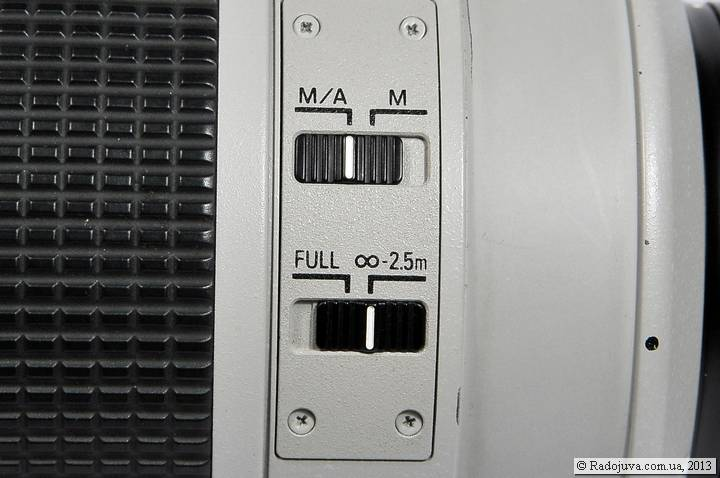 Переключатели на Nikon AF-S 80-200mm f/2.8 IF-ED