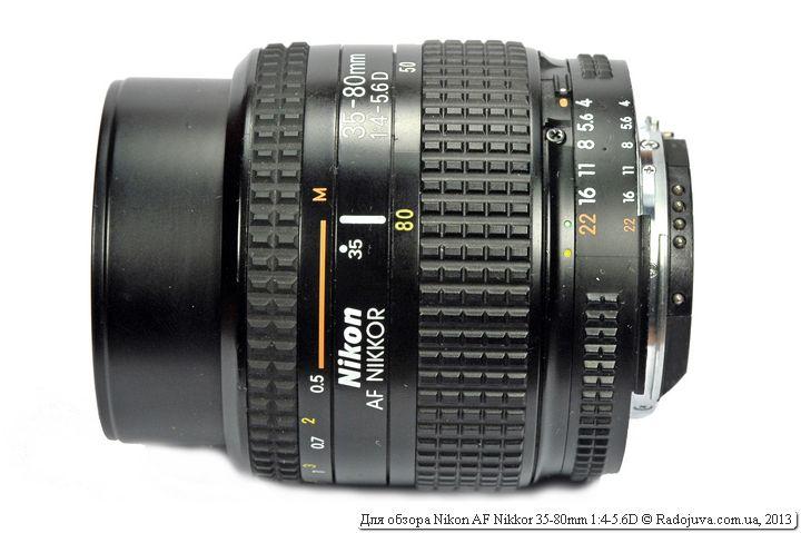 Объектив Nikon AF Nikkor 35-80mm f4-5.6D при фокусировке на МДФ и 80мм
