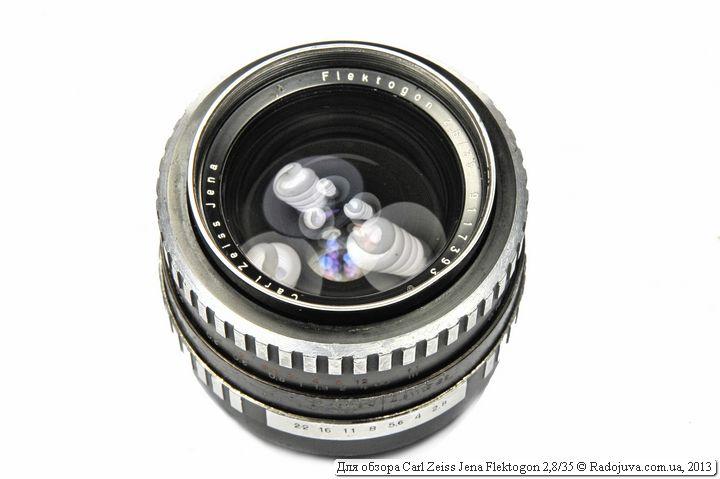 Вид объектива Carl Zeiss Jena Flektogon 2,8 35