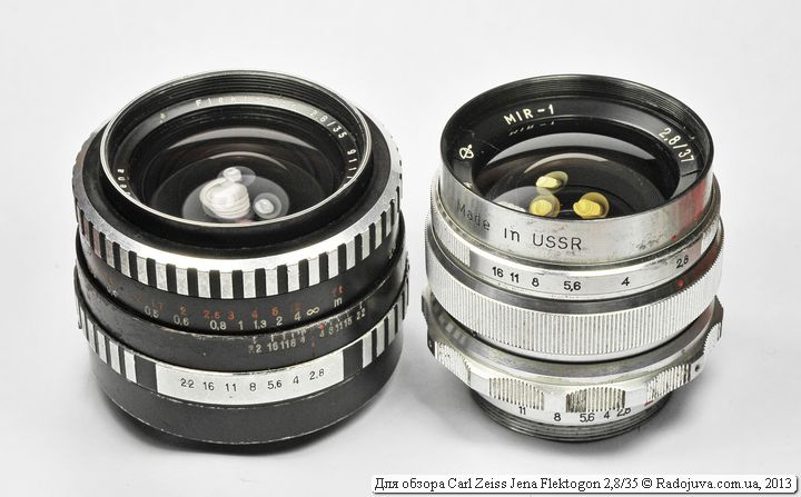 Размеры Carl Zeiss Jena Flektogon F2.8 35mm