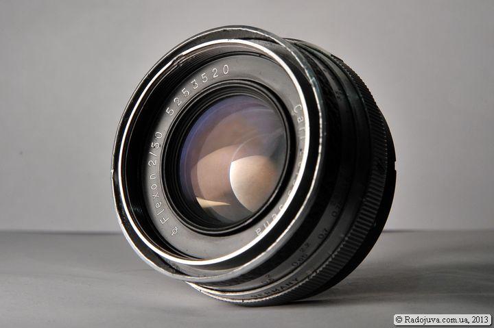 Вид объектива Carl Zeiss Jena Flexon 2 50