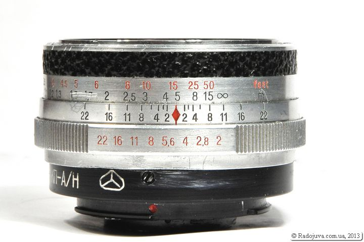 Вид объектива Carl Zeiss Jena Flexon 2 50