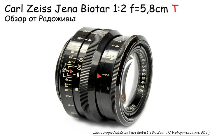 Обзор Carl Zeiss Jena Biotar 2/58